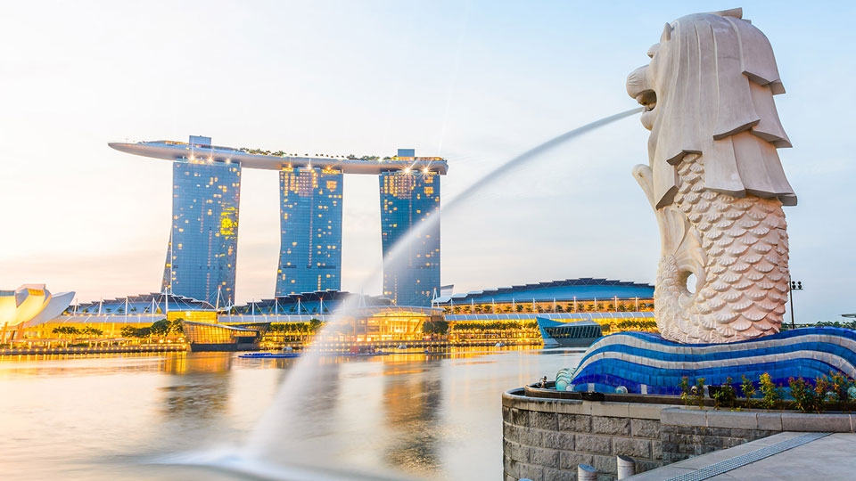 Công viên sư tử biển Merlion Park Singapore