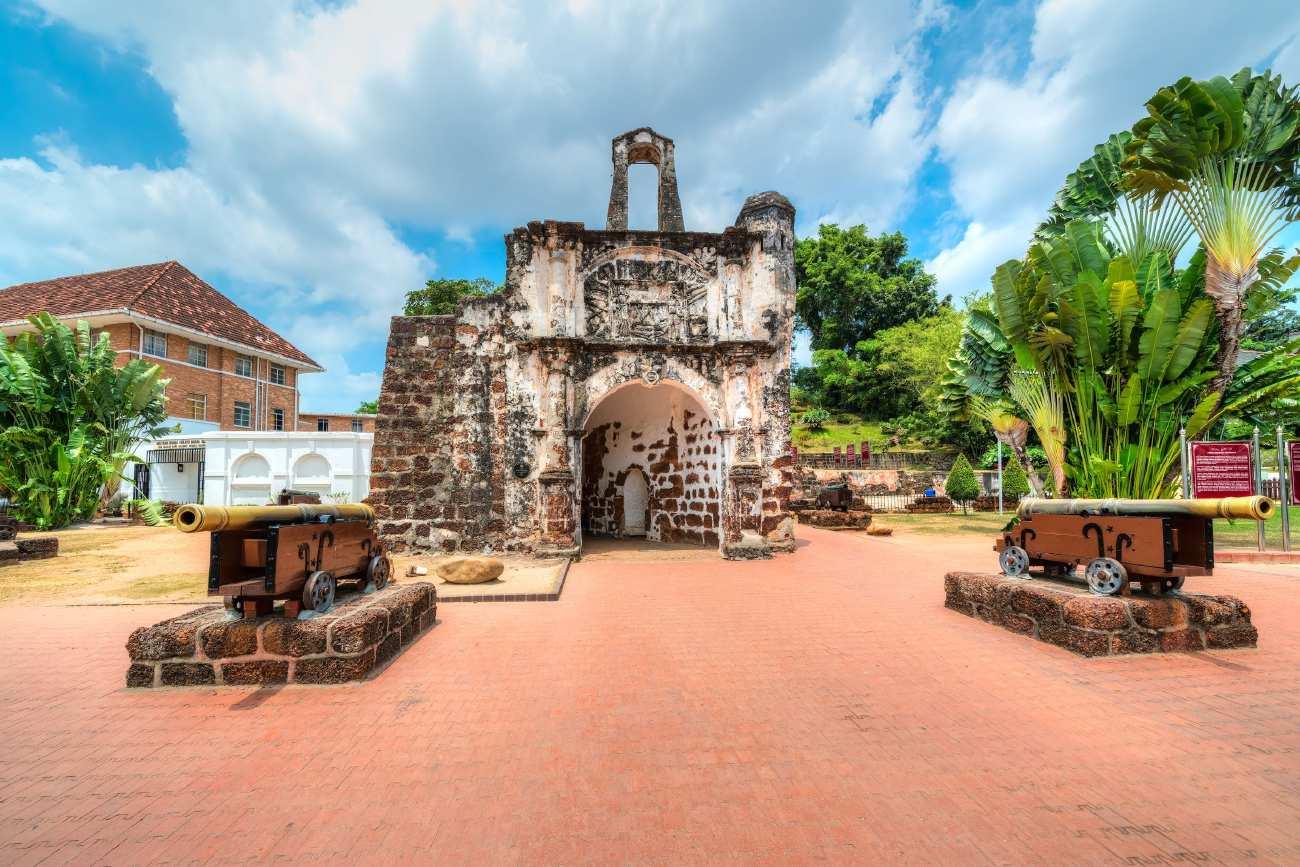 Toàn cảnh Pháo đài A Famosa Malacca