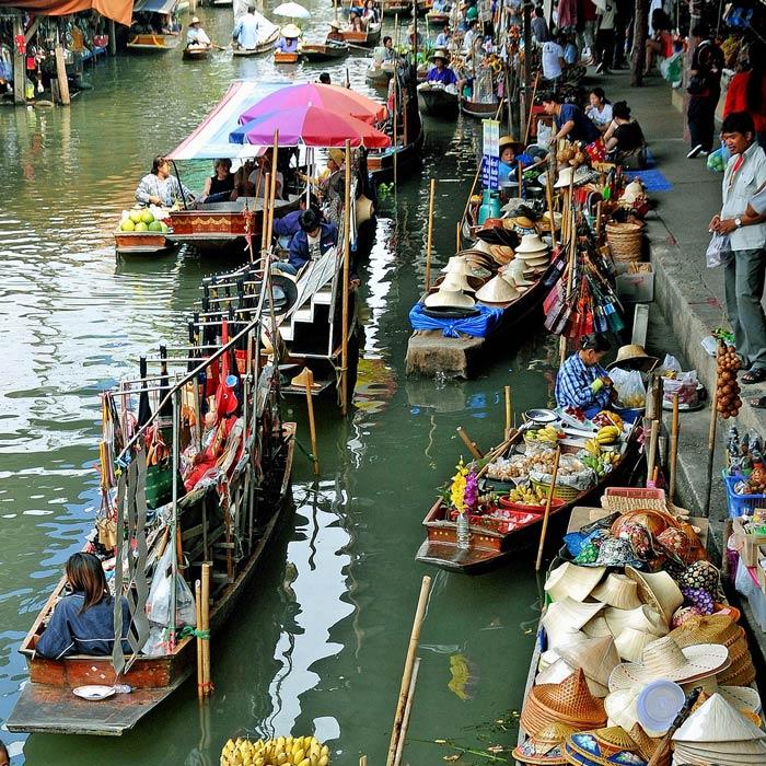 Những kênh đào còn sót lại tại chợ nổi Bangkok