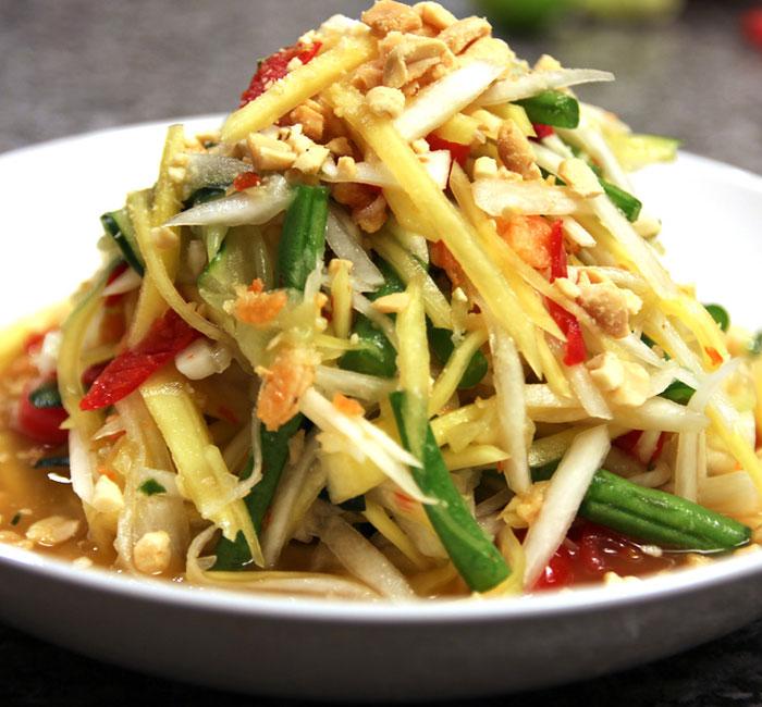 Gỏi đu đủ Son Tam ẩm thực Pai