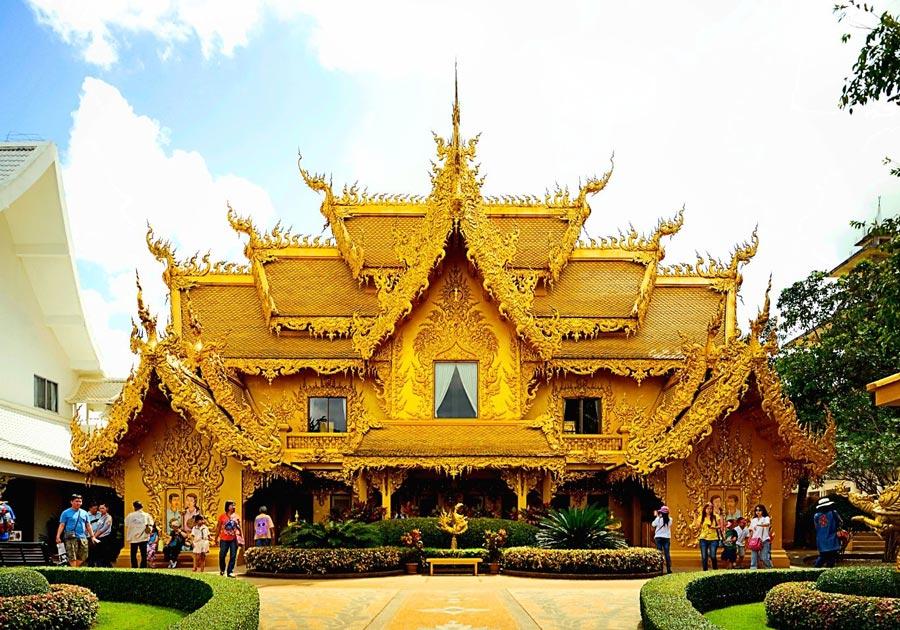 Tòa nhà vàng Chùa Wat Rong Khun