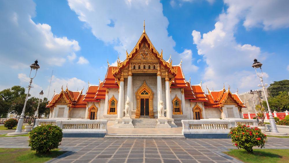 Chùa cẩm thạch Wat Benchamabophit Bangkok