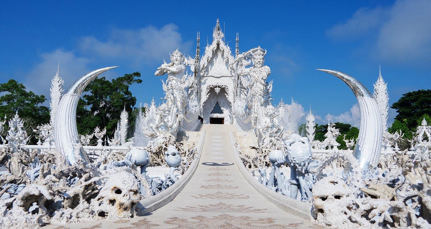 Wat Rong Khun ngôi chùa trắng ở Chiang Rai