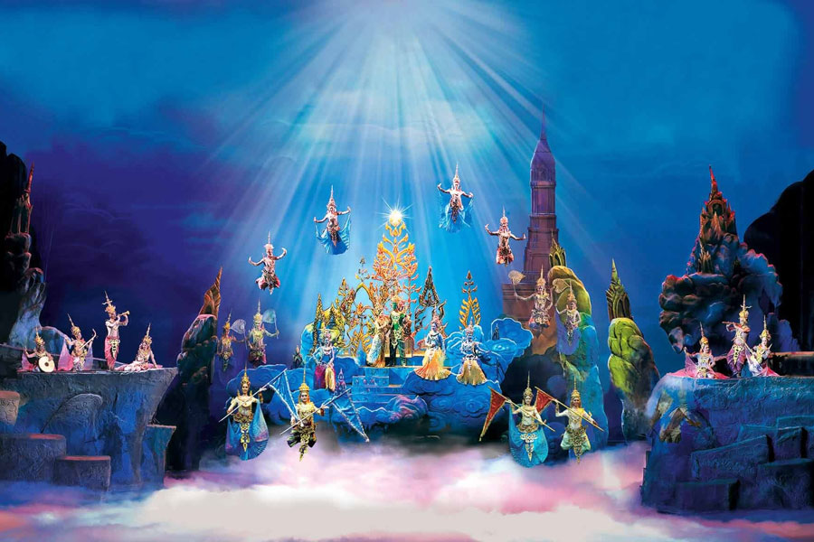 Cảnh thiên đàng trong show Siam Niramit