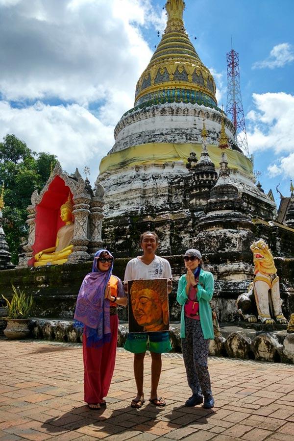 Bảo tháp chùa Wat Buppharam