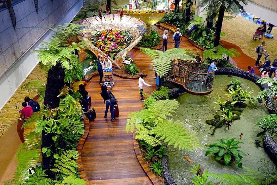 Vườn bướm trong sân bay Changi