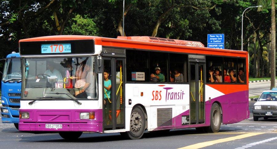 Xe bus số 170 từ Singapore đi Johor Bahru